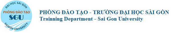 Phòng đào tạo – Trường Đại học Sài Gòn
